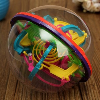 3D Magical Intellect Maze Ball Kids Amazing Balance Logic Ability Toys Learning & Educational IQ Trainer Game For Children - 4