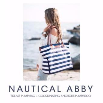 Sarah Wells Breast Pump Bag (Abby in Navy Stripe) - 3