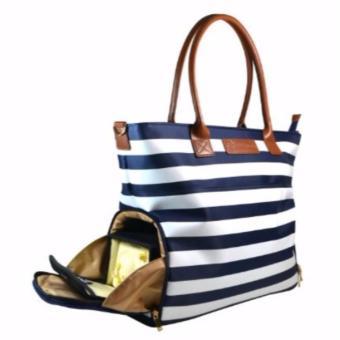 Sarah Wells Breast Pump Bag (Abby in Navy Stripe) - 2