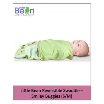 Harga Little Bean Reversible Swaddle - Cotton - Smiley Buggies (S/M)