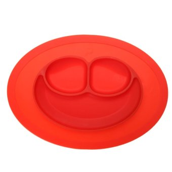 Harga Fashion Silicone Food Plate for Baby(Red) - intl