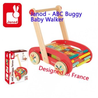 Harga Janod - ABC Buggy Baby Walker - 30 Blocks (J05379)