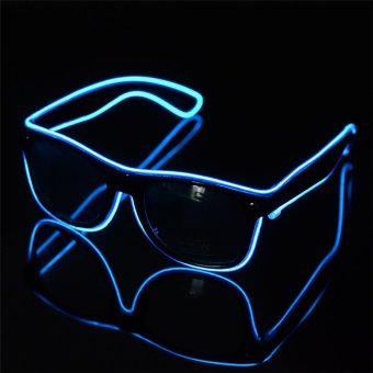 Harga Party / Concert 3-Mode LED Glasses with Controller (Blue&Black) - intl