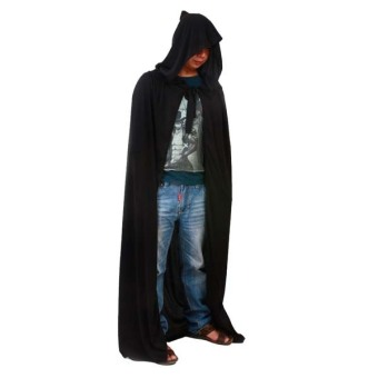 Harga Whyus Black Halloween Costume Theater Prop Death Hoody Cloak Devil