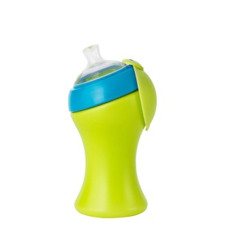 Harga Boon Swig 10oz Tall Flip Straw Sippy Cup (Green-Blue)