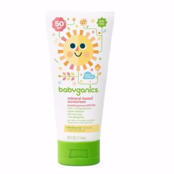 Harga Babyganics Mineral Based Sunscreen, Sunblock - SPF 50+ - Fragrance Free - 6 oz/177 mL