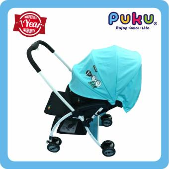 Harga Color Stroller / PUKU My Color Stroller / Light weight Stroller /0-36 months /Baby stroller - Blue