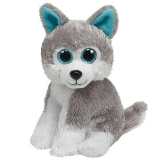 Harga TY Beanie Babies Grey/White Plush SLEDDER Husky Dog