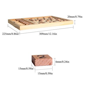 Andux Wooden Sudoku Board Games SD-01 - 2