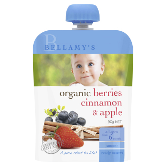 Harga Bellamy's Organic Organic Berries, Cinnamon & Apple
