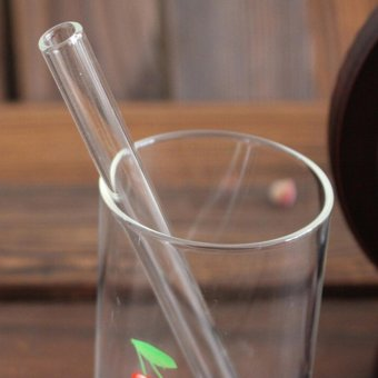 Reusable Curved Glass Drinking Straw For Wedding Birthday Party Grdty 6 inch - intl