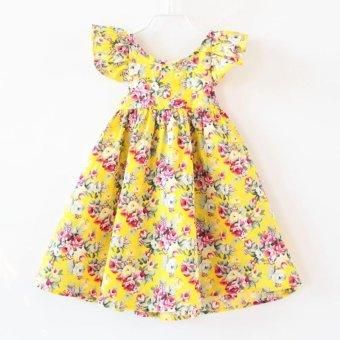 New Baby Girl Clothing Flower Print Dress Princess Skirt Kids Clothes - intl - 2