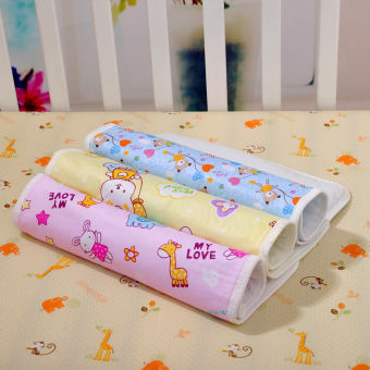 Baby Changing Pad Cotton Printed Cover Toddlers Waterproof Urine Mat Pink XL - 4
