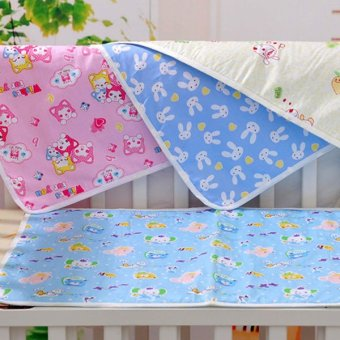 Baby Changing Pad Cotton Printed Cover Toddlers Waterproof Urine Mat Pink XL - 5