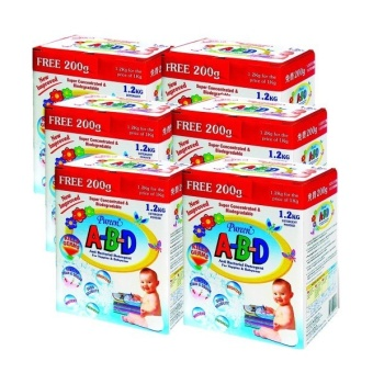 Harga Pureen A-B-D Detergent Powder 1.2kg x 6 boxes (Carton Pack)