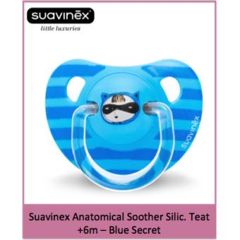 Suavinex Anatomical Soother Silic. Teat +6m - Blue Secret