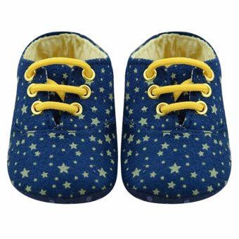 Harga StaCrib Soft Sole Kid Girls Baby Shoes (Blue) - intl