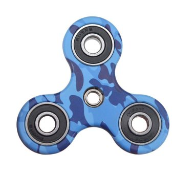 Harga Fidget Spinner Triangle Single Finger Decompression Gyro Blue - intl