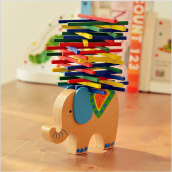 Harga YingWei Balance Beam Baby Building and Stacking Toys Children 's puzzlel Blocks Elephant