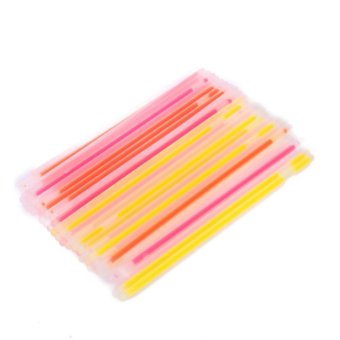 Harga 50pcs Glow Sticks Bracelets Neon Light Glowing Party(Multicolor) - Intl