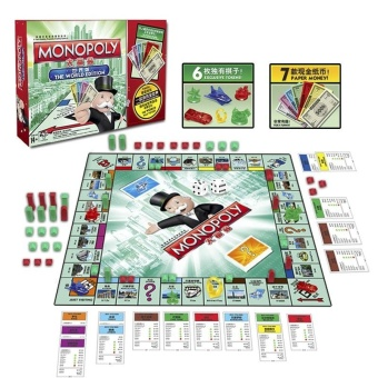 Monopoly Board Game World Edition Family Fun Classic Trading Game - intl