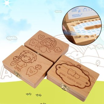 Harga Teeth Wooden Tooth Storage Save Box For Kids 3-6 Years Creative (Boy) - intl