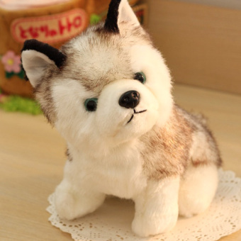 Harga Cute simulation dog husky doll plush toy doll lying dog doll girl children's day gift