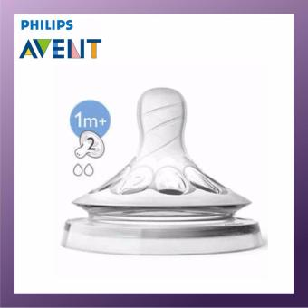 Harga PHILIPS AVENT Natural Teats 2 Hole Slow Flow 1M+ Twin Pack