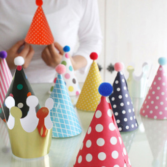 Harga 11pcs/set Party Celebration Korean Cute Party Hats Birthday Hat Festive Party Photograph Items Birthday Party Decorations Kids - intl