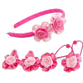Harga Children suit korean female headdress hairpin baby hair accessories rose flower hair band hair ring hair rope bb clip accessories