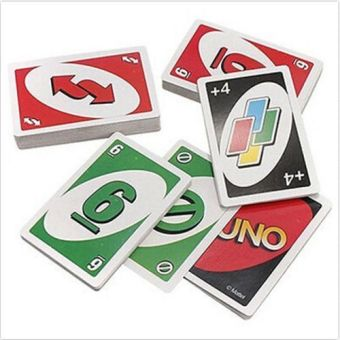 Harga 108PCS UNO Playing Cards Game Travel Instruction - intl