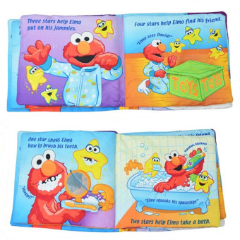 Hundred American Softplay Sesame Street Elmo Learn Dimensional Cloth Book Goodnight Educational Toys - 3
