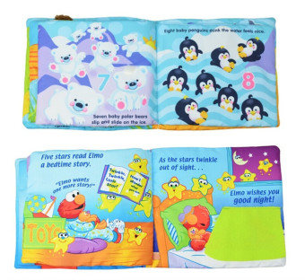 Hundred American Softplay Sesame Street Elmo Learn Dimensional Cloth Book Goodnight Educational Toys - 4