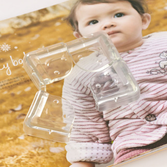 smiling Baby Table Corner Protectors Transparent Anti-Collision Angle - 3