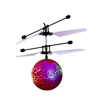 Harga RC Flying Ball Drone Helicopter Ball Built-in Shinning LED Lighting for Kids Toy Red - intl