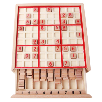 Children's intellectual multi-function toys Sudoku chess grid wooden game chess adult educational board game 61 gift