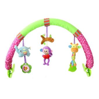 Harga New Infant Bed Clip Animal Cartoon Music Ring BB Car Hanging Animal Baby Toys - intl