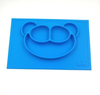 Harga Baby Placemat and Plate/Tray with Suction different color&patterns Silicone Placemat Plate for kids/toddlers 38*25cm Place mats Blue