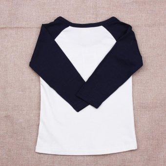 Kids Long Sleeve T-shirt Cartoon Print Tops Clothes - intl - 3