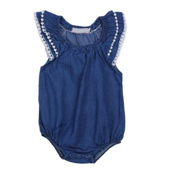 Harga Summer Spring Baby Girl Lace Romper Clothes Lace Jumpsuit Sunsuit Outfits - intl