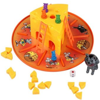 Cat And Mouse Cheese Game Children Interaction 3D Board Game Great Holiday Gift for Boys and Girls Great Family Fun Game - intl