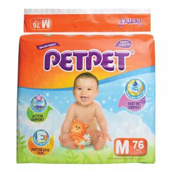 Harga PETPET HALO Mega Pack Baby Diapers M76's x 3 packs