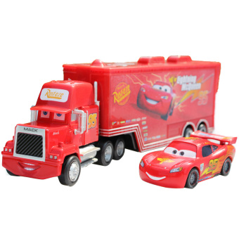 Harga Pixar Car No.95 Mack Racer's Truck Lightning McQueen Toy Cars For Boys Red