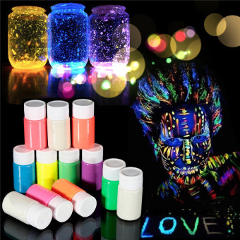 Harga 1xUV Glow Neon Face and Body Paint - 20ml SET Fluoro Party Glow Artistic Hot Yellow(Export)