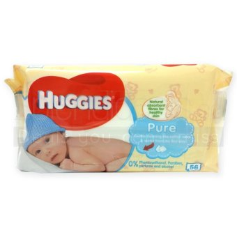 Harga Huggies Pure Baby Wipes 56's x 10 packs (UK) - 0039