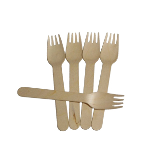 Harga MagiDeal 100pcs Birch Wooden Disposable Cutlery Kit Wood Forks - intl