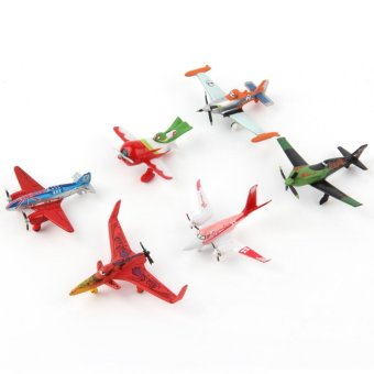 Harga OH 6 Pieces/Set Planes Play Set Plastic Model Planes Figure Airplanes Toy
