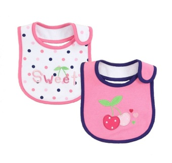 Harga Mom And Bab Baby Bibs 2pk - Sweet Cherry
