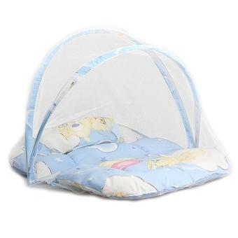 Harga Baby Infant Portable Folding Crib Bed Mosquito Net Travel Tent Blue - intl