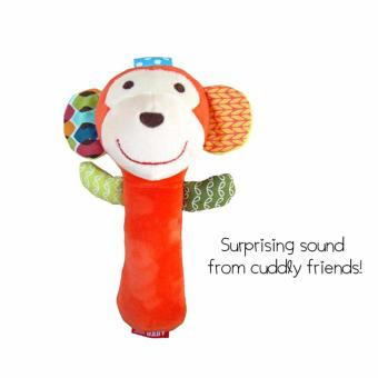 Harga SKK Baby Squeakie and Rattle Toy - Monkey
